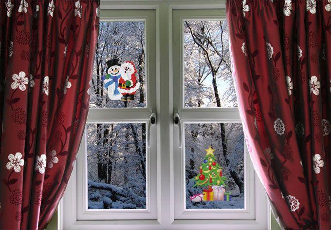 Tenda di Natale fai da te con raso rosso. Le tende di Natale sono un ottimo…