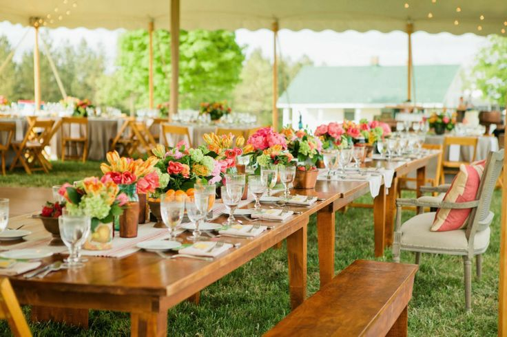 looking back at 2013... southern inspired wedding, farm tables for head table. southern bloons by pat's floral. shindig weddings & events.