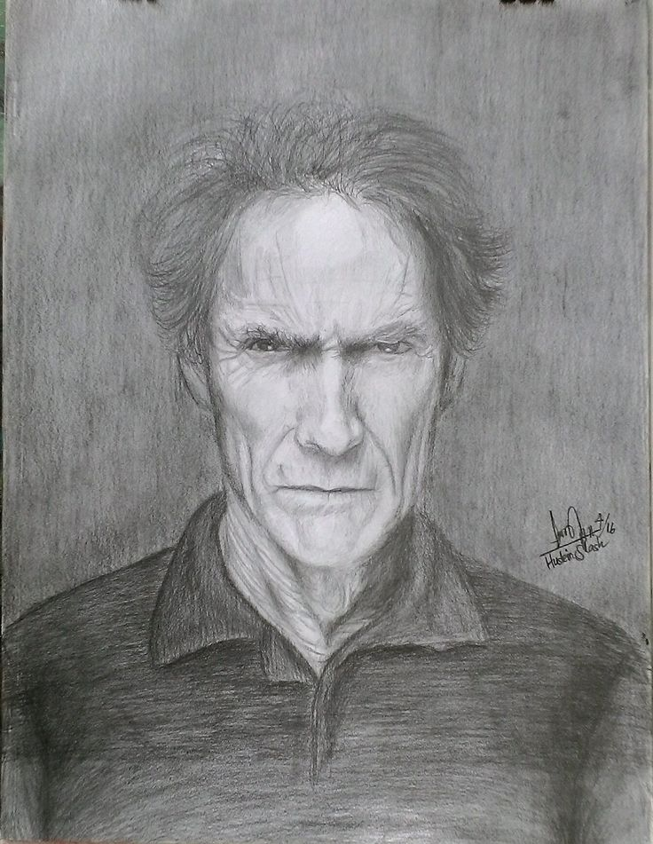 Clinton Eastwood Original pencil drawing On paper A3. $20