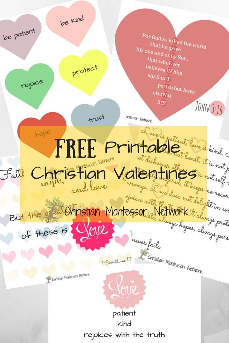 Christian Valentines Printables For Kids  Valentines -7089