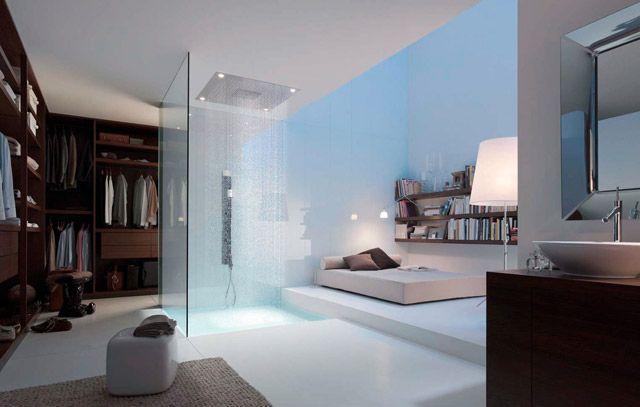 Rain shower in the bedroom