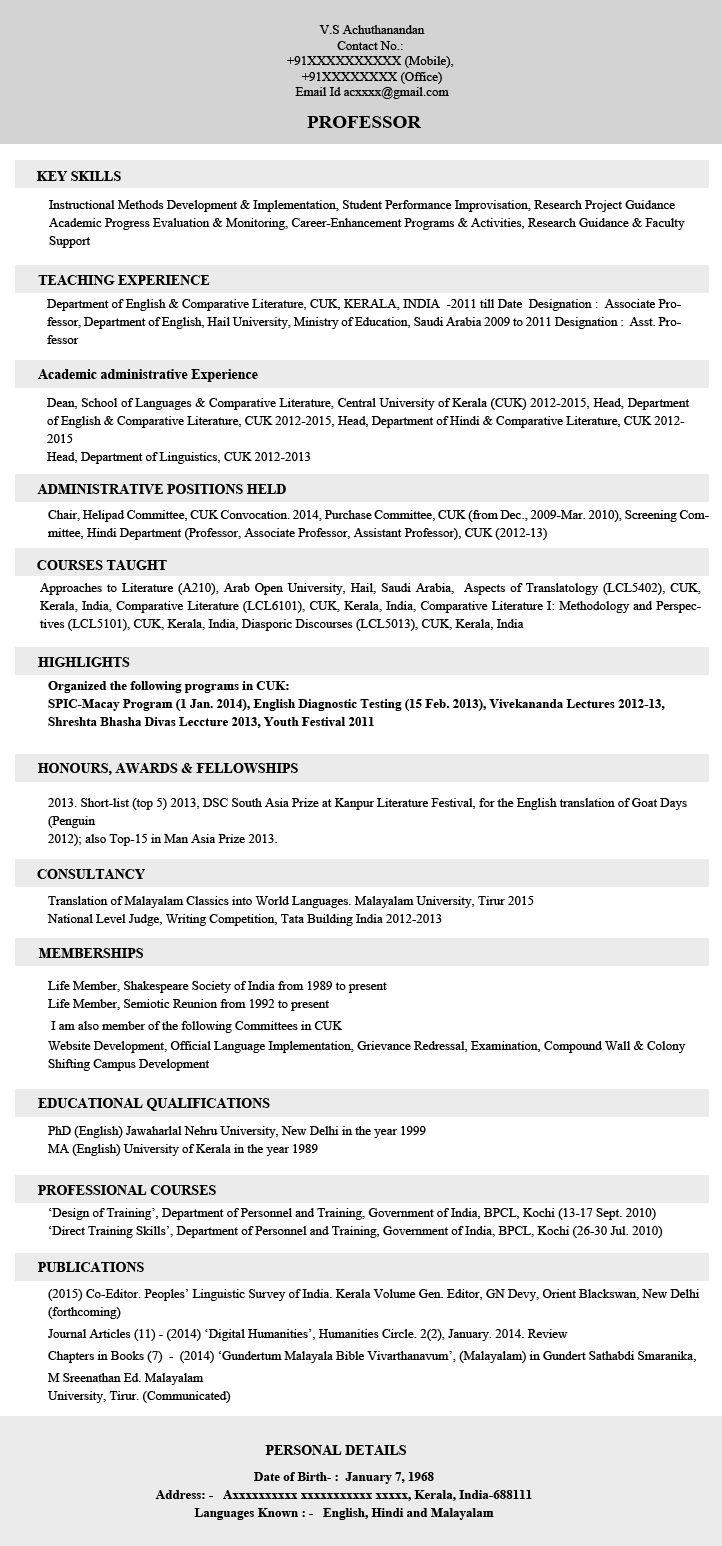 Resume Sample Before Job Seeker Old Resume Sample (With