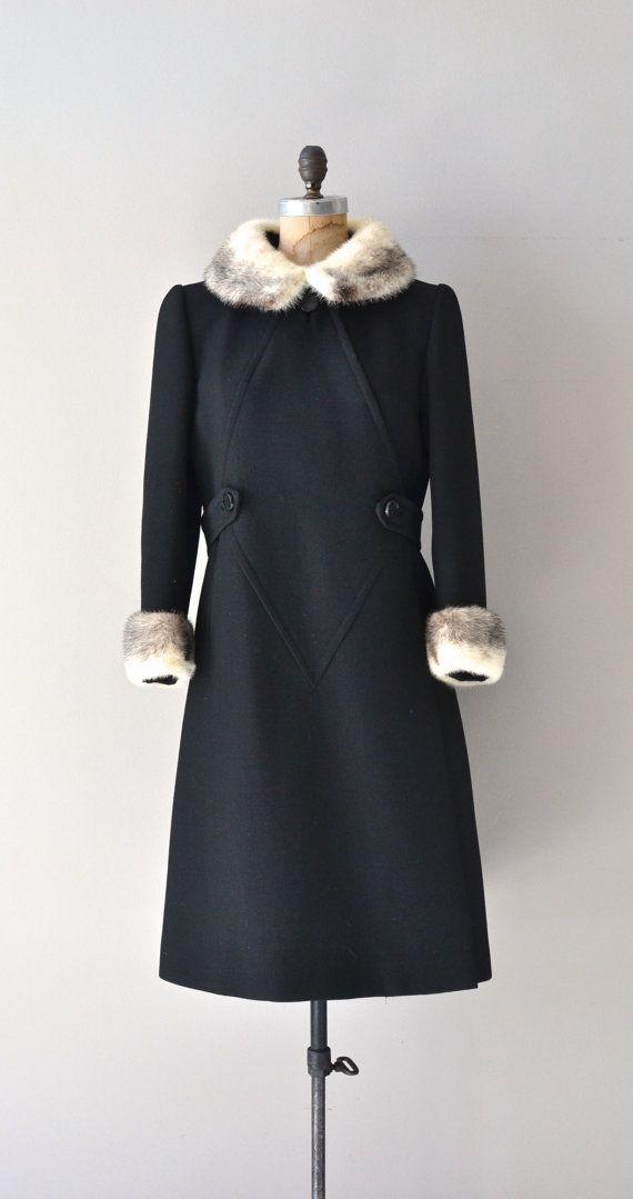 Stegari mink collar coat vintage 1960s coat mink by DearGolden