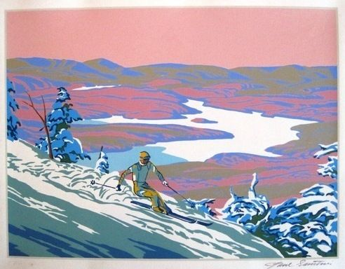 Auction item 'Downhilll Racer, signed serigraph' hosted online at 32auctions.