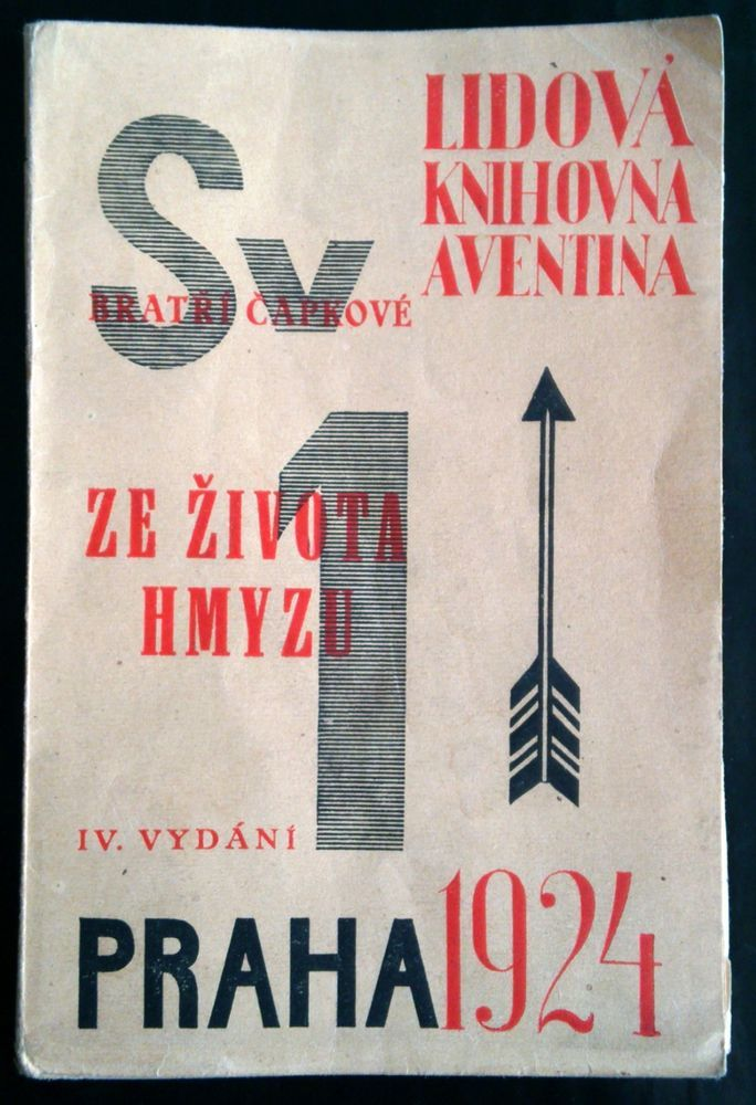 rare czech avant-garde AVENTINUM AUCTION Capek 1924 Sv.1 Ze zivota hmyzu TEIGE