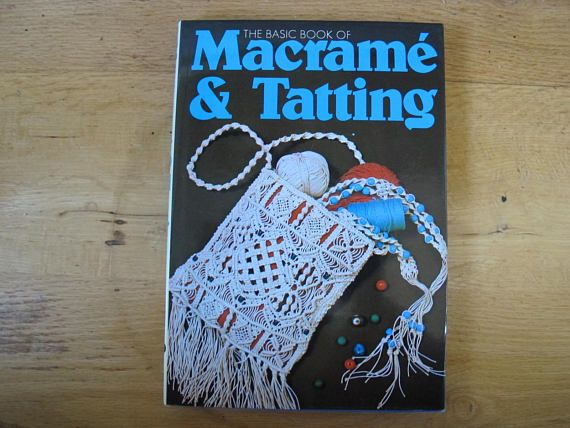 A 128 page instructional book on macrame and tatting. Includes 32 colour illustrations in addition to being fully illustrated in black and white. 9 1/2 by 6 3/4 inches in size. Table of contents is shown in the 4th photo. Book is in very good condition. All of my vintage items are sold