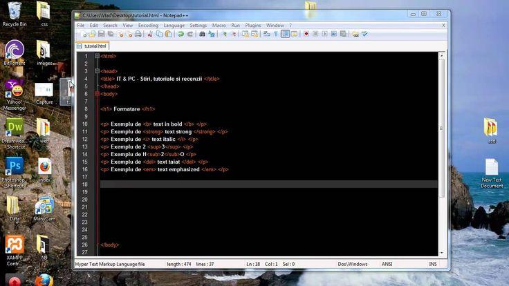 [Tutorial] HTML in limba romana (2) - Formatare text