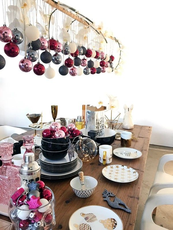 Gold, pink and orchids combine for a stunning Christmas table setting at Target Australia 2015. Photo Lisa Tilse for We Are Scout.