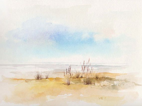 Original Watercolour Hand Painted Seascape Product