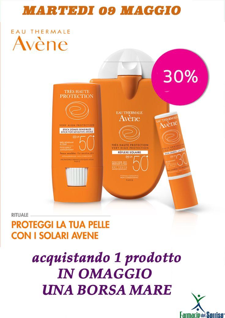 Martedi 09 Maggio vi aspettiamo presso la #farmaciedelsorriso Pisani-Acerra per una giornata promozionale solari Avene.