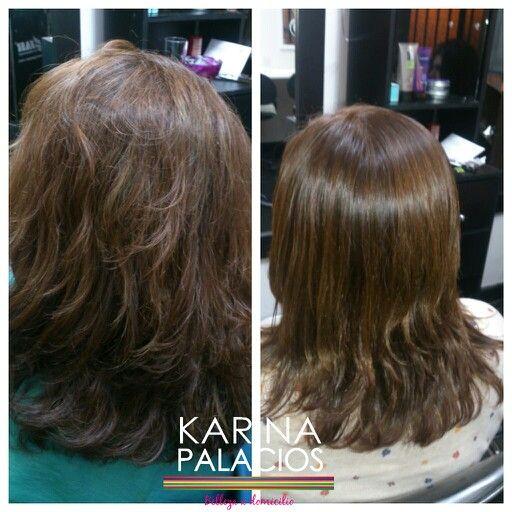 Treatmen of hair keratin shok Tratamiento shock de keratina