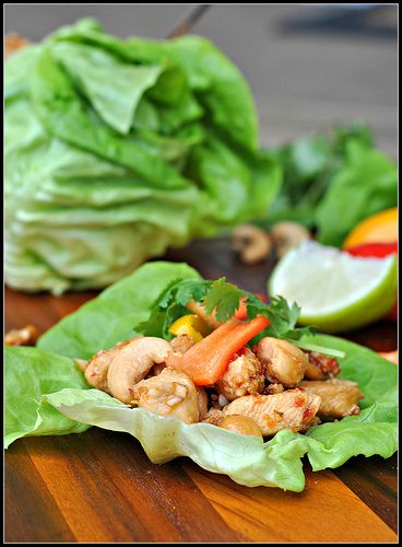Cashew Chicken Lettuce Wraps 1