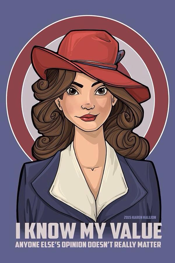 Know Your Worth || by Karen Hallion || Peggy Carter || #fanart