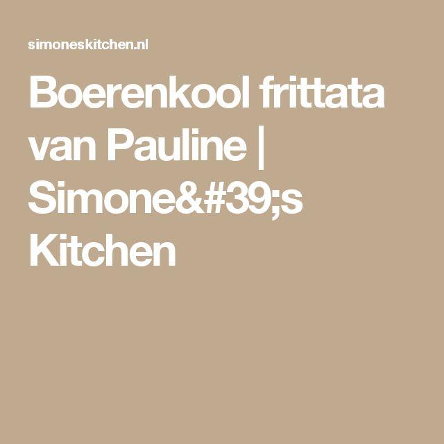 Boerenkool frittata van Pauline | Simone's Kitchen