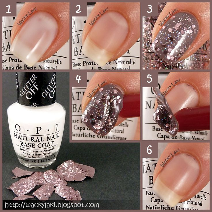How to Remove Glitter Top Coat