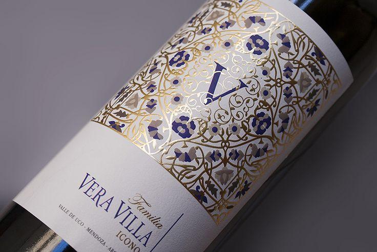Diseño Etiqueta de Vino / Wine label Design Familia Vera Villa