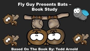 Fly Guy Presents Bats Book Study. This pack includes: an anticipation guide, review quiz, glossary page, vocabulary review, 16 vocabulary word cards, cause/effect activity, and bat writing paper.  Please note that this a non-fiction, informational book study about bats and is not Halloween/Fall themed.