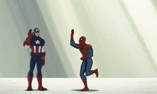 """Congratulations, Spiderman, you made it into the Aveng--Oh! ....Hulk, we told you to stop doing that to people."""