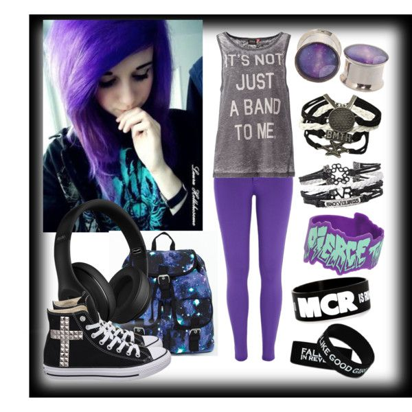 Take the studs off the converse and get rid of the headphones and gages and then this outfit would be perf :3