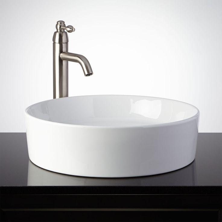 Douos Porcelain Vessel Sink. White Vessel SinkVessel Sink BathroomSmall ...