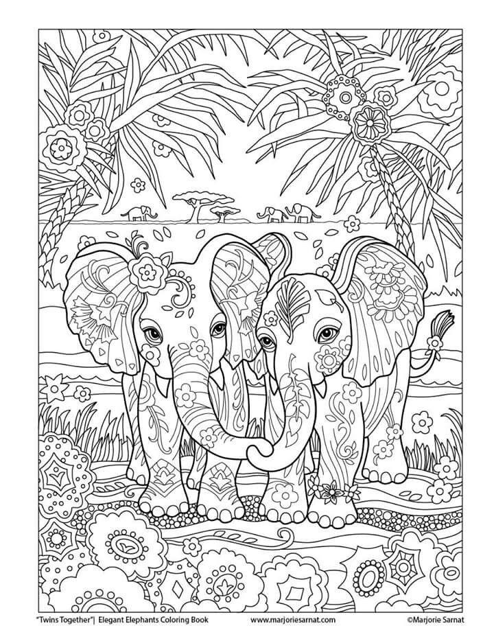 elefanten  elefanten  mandala ausmalen ausmalbilder und