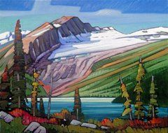Van Dop Gallery | Artists | Oil on Canvas: King Edward Glacier by Nicholas Bott