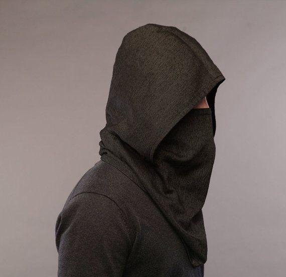 Vêtements futuristes laine à capuche écharpe / homme foulard /Men cache-cou / écharpe capuche / foulards pour femmes Snood Echarpe / Foulards pour homme