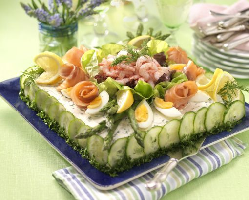 Shrimp sandwich cake