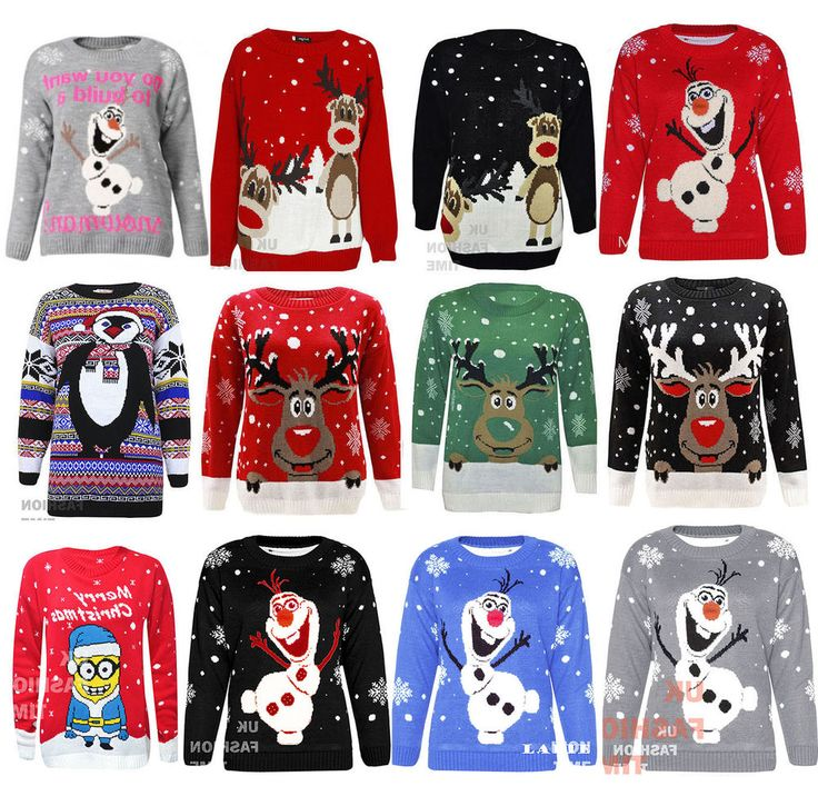 Womenes Ladies Mens Reindeer Warm Sweater Christmas Xmas Jumper Top Plus Size  #Unbranded #Jumpers