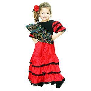 İspanyol Kız Çocuk Kostümü 4-6 Yaş, doğum günü elbisesi 4 yaş