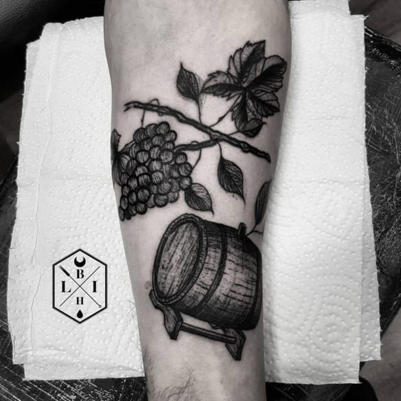 14 Delicious Wine Tattoos