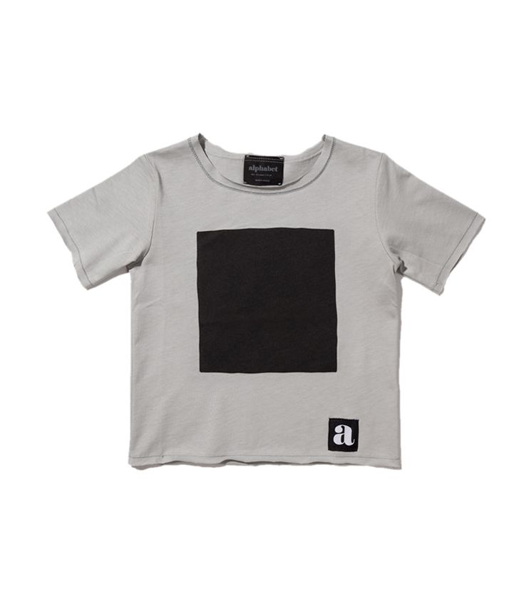 Black square t-shirt