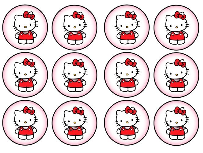 56 best hello kitti printables images on pinterest kitty for Hello kitty cupcake topper template