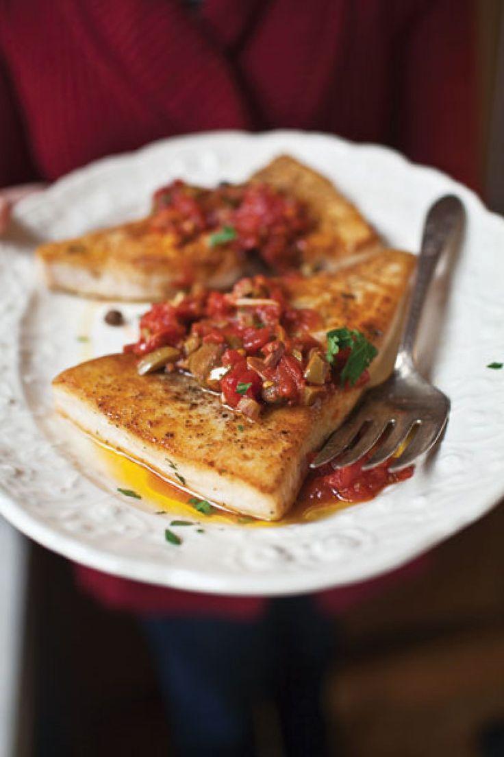 Swordfish Puttanesca Recipe | SAVEUR