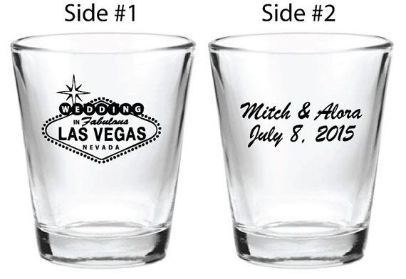 72 Wedding Favor Las Vegas Personalized 1.5oz Shot Glasses Custom Wedding Favors on Etsy, $119.20