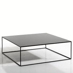 Table basse m tal carr e romy am pm crushing on metal for Table basse carree metal