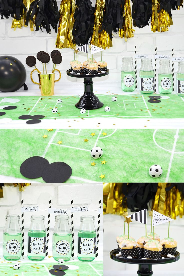 New Fu ballparty Deko Ideen Printables