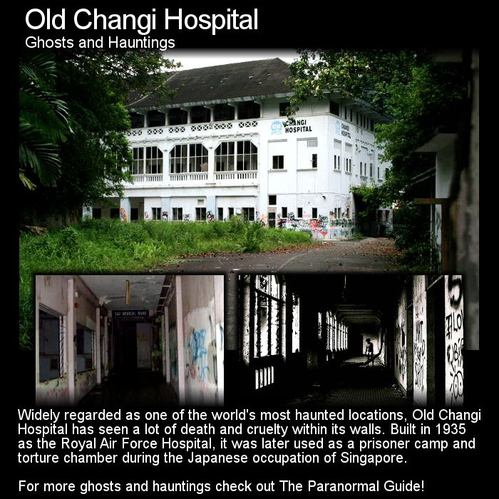 Old Changi Hospital. This place is a notoriously haunted location in Singapore and it has just enough dark history to support that. Head to this link to learn more: http://www.theparanormalguide.com/blog/old-changi-hospital