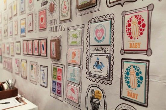 cool hand drawn frames and display