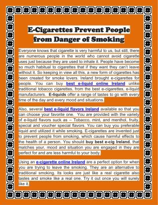 Order an e-juice for your e-cigarette from S&Heaven, fill your e-cigarette with it and start smoking a healthier smoke. #health #smoking #ecigarettes #eliquid  http://www.slideserve.com/SomyJason/e-cigarettes-prevent-people-from-danger-of-smoking