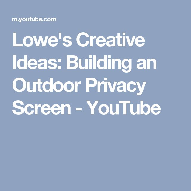 17 best ideas about outdoor privacy on pinterest patio for Creative privacy screen ideas