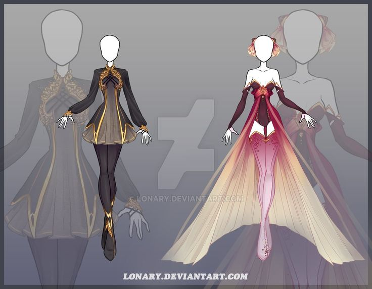 uniform and party gown outfit design dress drawing