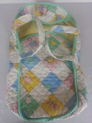 1983 Cabbage Patch Kids Doll Moses Carrier Bag Quilted with Handles Vintage CPK
