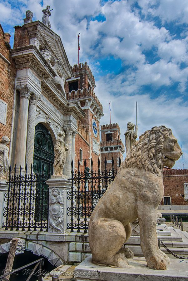 Guarding Lion At Arsenale, Venice, province of Venezia , Veneto region Italy