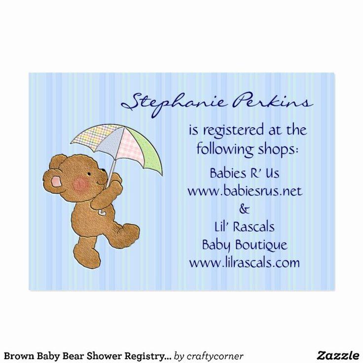 Baby Registry Cards Template Elegant Sweet Dreams Baby ...