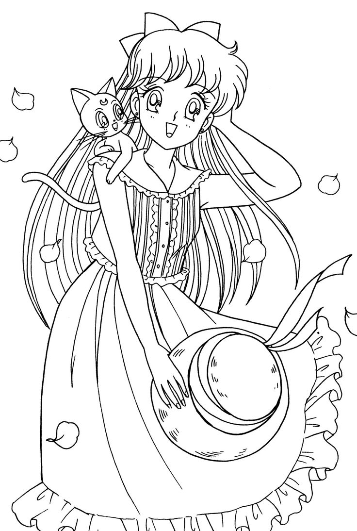 406 best sailor moon coloring sheets images on pinterest