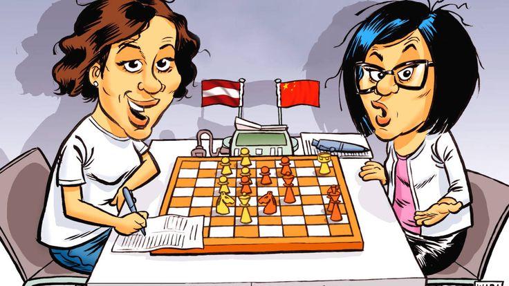 Así ganó una ministra de Letonia a una campeona mundial de ajedrez