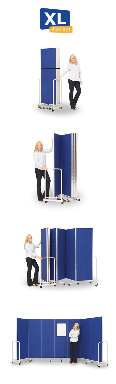 Create your temporary office space with the Insta-Wall partition dividers screens. They quickly fold out from their stored position to give you a portable concertina divider system that allows you to create your own spaces or screen off areas for privacy. Buy from http://www.xldisplays.co.uk with prices starting at £299 for the 3 panel divider system.