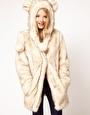 ASOS - Manteau à capuche avec oreilles en fausse fourrure