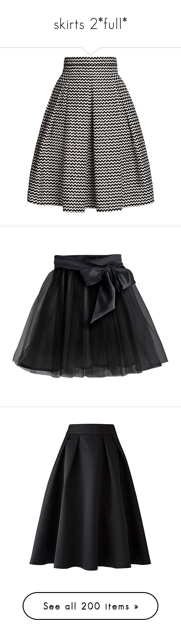 """""""skirts 2*full*"""" by crossjaden on Polyvore featuring skirts, bottoms, saias, jupes, fitted midi skirt, cotton pleated skirt, midi skirt, calf length skirts, fitted skirts and black"""